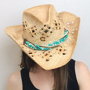 Charlie 1 Horse | Straw Beaded Band Cowgirl Hat